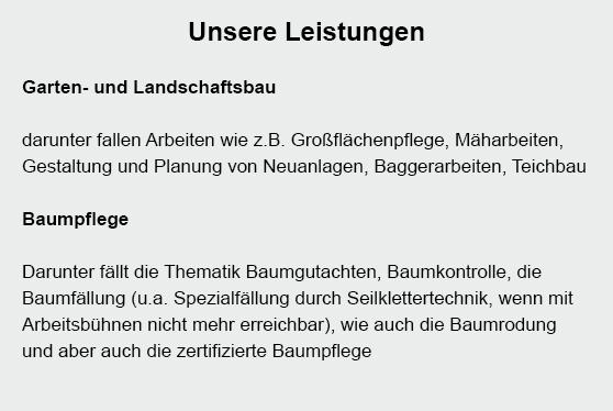 Landschaftsbau für  Alt Mölln